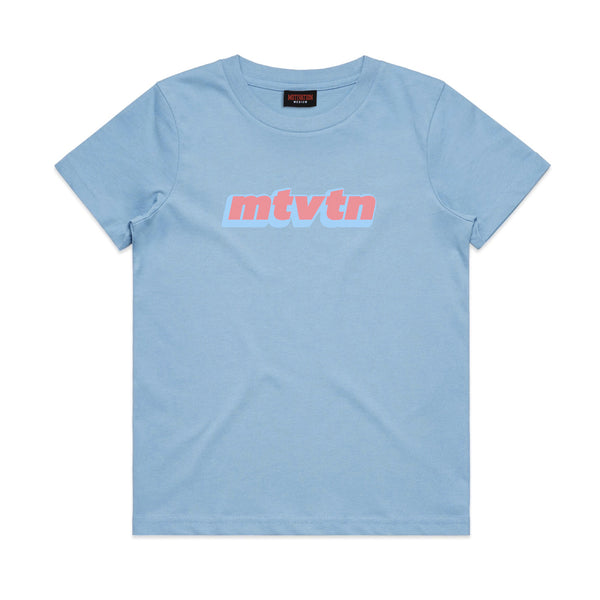 Kid's MTVTN Logo T-Shirt Bay Blue PRE-ORDER