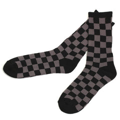 Checkered Socks Black