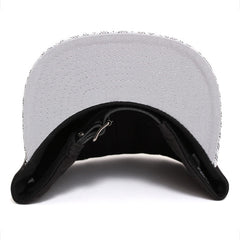 Opulence Leather Buckleback Hat Black / Silver