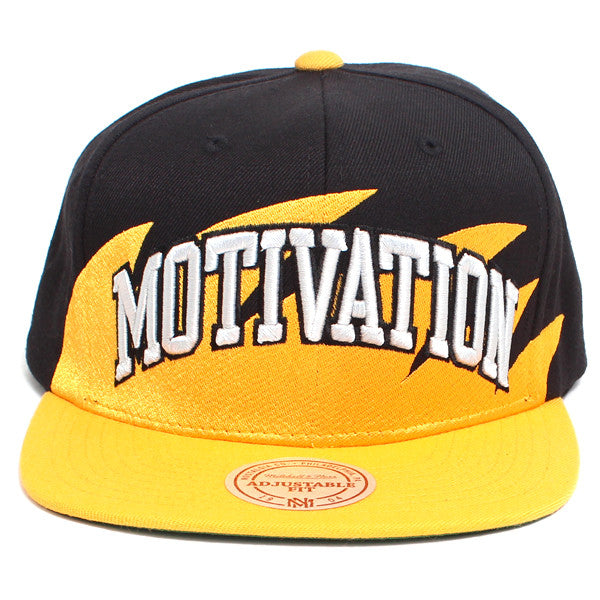 Motivation Arc Sharktooth Mitchell & Ness Snapback Hat Black / Yellow