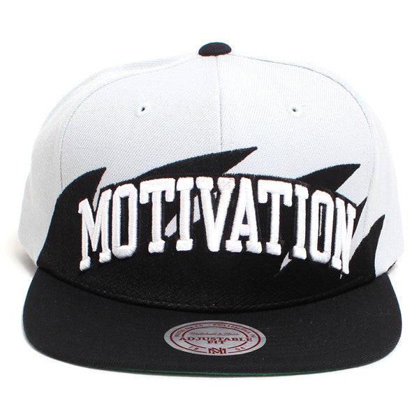 Motivation Arc Sharktooth Mitchell & Ness Snapback Hat Grey / Black