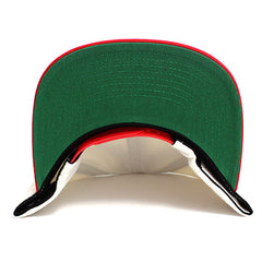 Motivation Arc Sharktooth Mitchell & Ness Snapback Hat Cream / Red