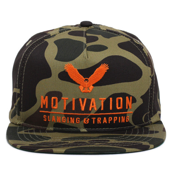 36 Ounces Snapback Hat Duck Camo