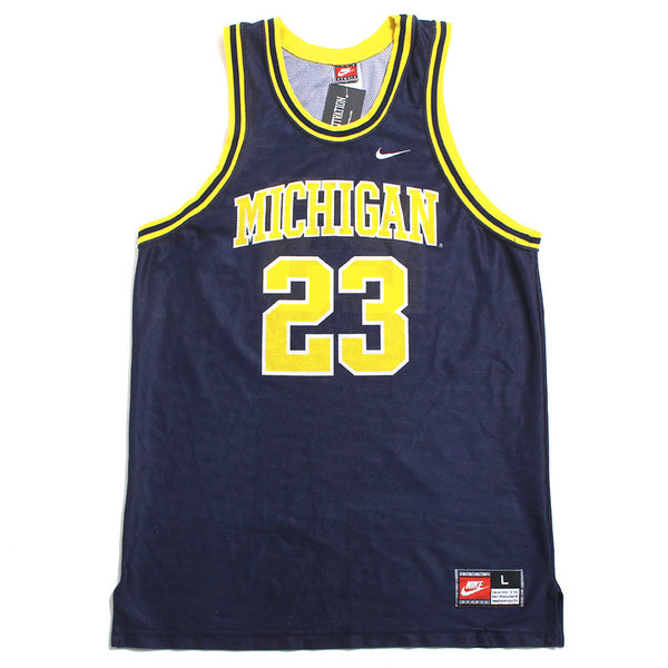 University of Michigan #23 Nike Basketball Jersey Navy (Large)