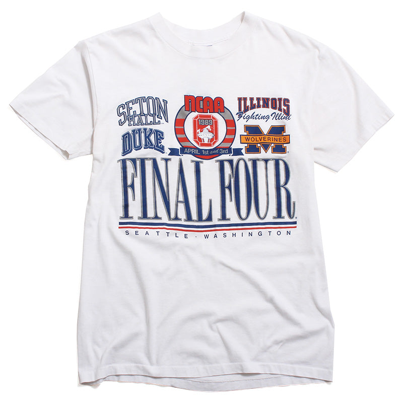 University of Michigan Basketball 1989 Final Four My Shirt Paper Thin T-Shirt White (XL)