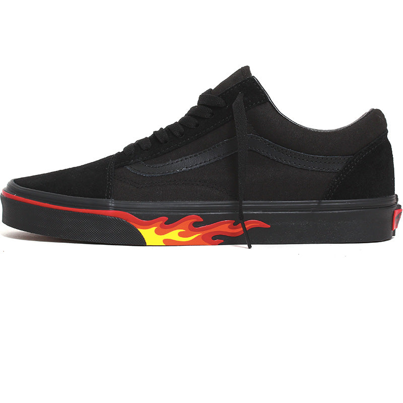 Flame Wall Old Skool Sneakers Black