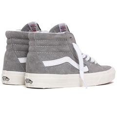 Pig Suede Sk8-Hi Women's Sneakers Drizzle Grey / Snow White