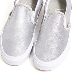 Classic Slip-On Women's Sneakers Silver / Silver