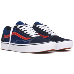 Tri-Tone Comfycush Old Skool Sneakers Dress Blues / Blue / Red