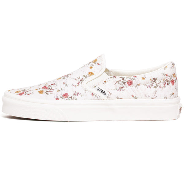 Vintage Classic Slip-On Women's Sneakers Floral / Marshmallow