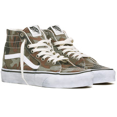 Washed Sk8-Hi Tapered Women's Sneakers Camo / True White