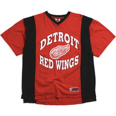 Detroit Red Wings Striped Pro Edge Jersey T-Shirt Red (Large)