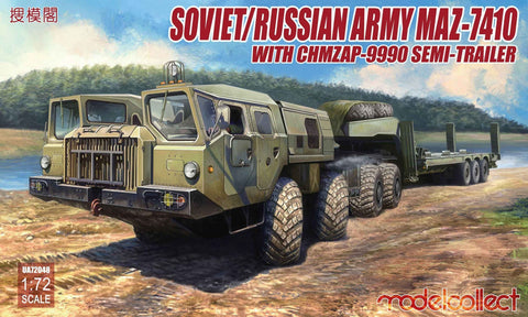 Soviet/Russian Army MAZ-7410 with ChMZAP-9990 semi-trailer (1/72)