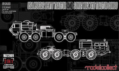 USA M983A2 HEMTT Tractor and Soviet MAZ 7410 tractor COMBO (1/72)