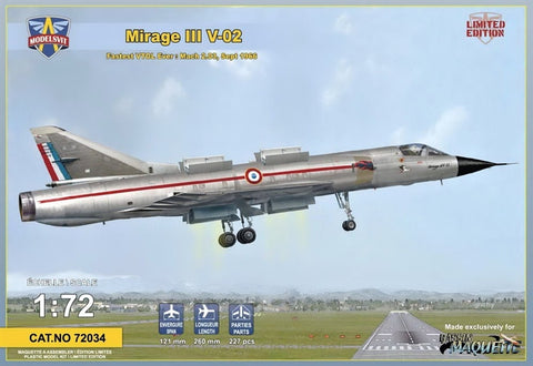 1/72 Mirage III V-02 - Pegasus Hobby Supplies