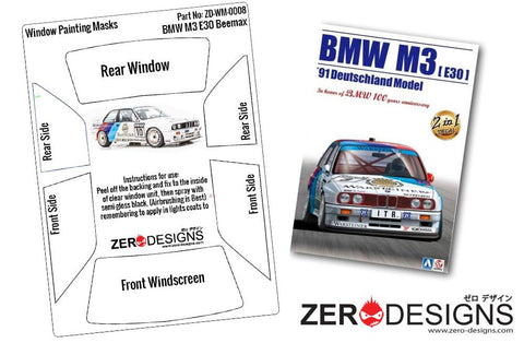Zero Designs : 1/24 BMW M3 E30 Window Painting Masks (Beemax)