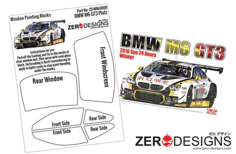 Zero Designs : 1/24 BMW M6 GT3 Window Painting Masks (Platz-NuNu)