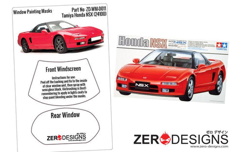 Zero Designs : 1/24 Honda NSX Window Painting Masks (Tamiya 24100)