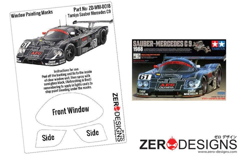 Zero Designs : 1/24 Sauber Mercedes C9 Window Painting Masks (Tamiya) - Pegasus Hobby Supplies