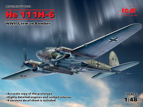He 111H-6, WWII German Bomber (1/48)