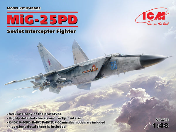 MIG-25PD Soviet Interceptor Fighter (1/48)