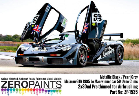 Zero Paints : Mclaren GTR 1995 Le Man Winner Car 59 Ueno Clinic Paint Set 2x30ml (60ml)