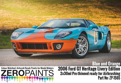 Zero Paints : Ford GT Heritage Livery Edition Blue and Orange (2006) Set (2 x 30ml)