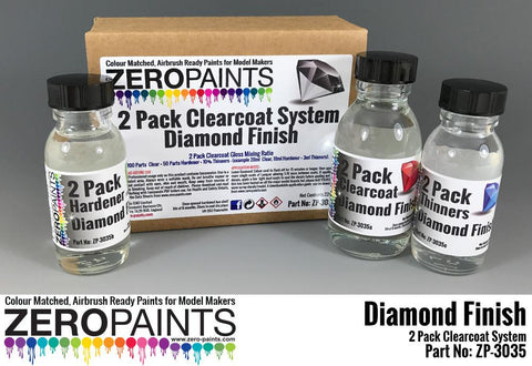 Zero Paints : Diamond Finish - 2 Pack Gloss Clearcoat System [2K Urethane] (220ml) - Pegasus Hobby Supplies