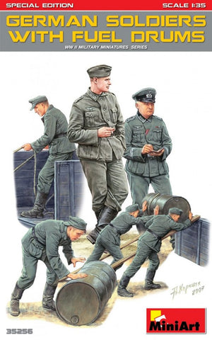 German Soldiers Loading Fuel Drums (1/35)