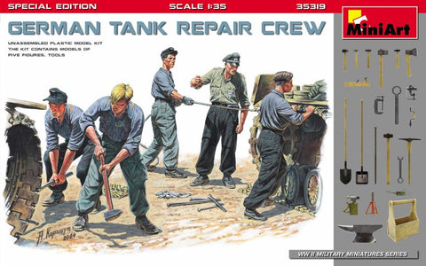 German tank repair crew. Special edition (1/35)