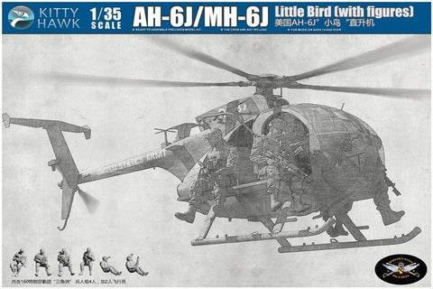 AH-6J/MH-6J Little Bird with 6 Figures (1/35)