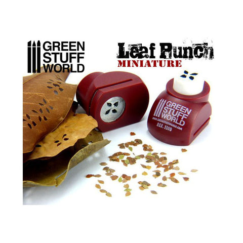 "Miniature Leaf Punch [RED] ""MIXED"" - Pegasus Hobby Supplies"