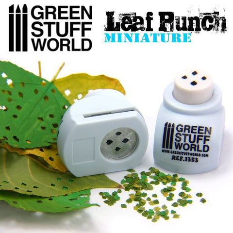 "Miniature Leaf Punch [LIGHT BLUE] ""LIME"" - Pegasus Hobby Supplies"
