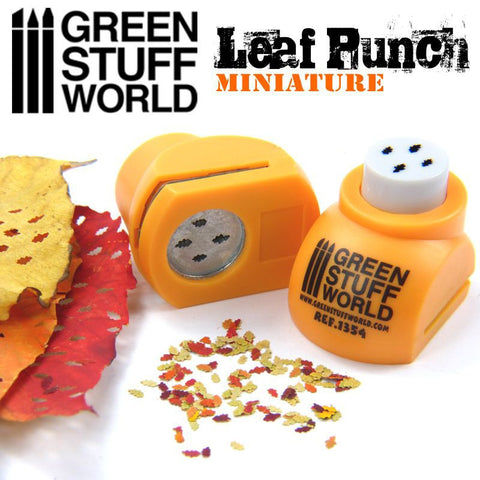 "Miniature Leaf Punch [ORANGE] ""OAK"" - Pegasus Hobby Supplies"