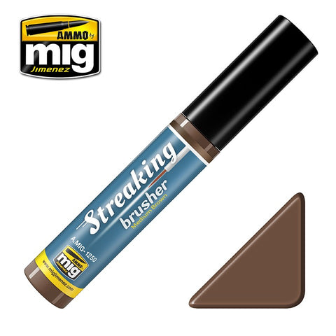 Streaking Brusher - Medium Brown - Pegasus Hobby Supplies
