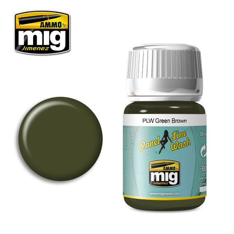 Panel Line Wash : Green Brown (35ml) - Pegasus Hobby Supplies