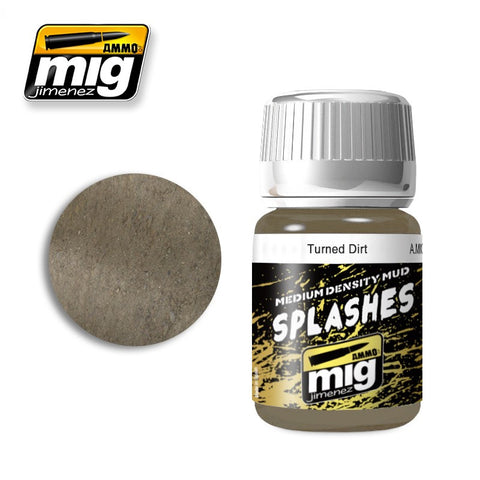 Splashes / Medium Density Mud Texture - Turned Dirt (35ml)