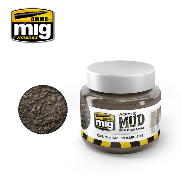 Acrylic MUD - Dark Mud Ground (250ml)