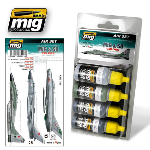 MiG & SU Colors (Grey & Green Jets)