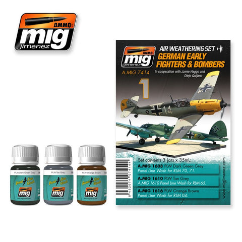 Aircraft Weathering Set 1 - German Early Fighters & Bombers - Pegasus Hobby Supplies