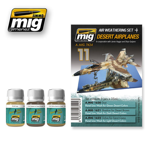 Aircraft Weathering Set 11 - Desert Airplanes Set - Pegasus Hobby Supplies