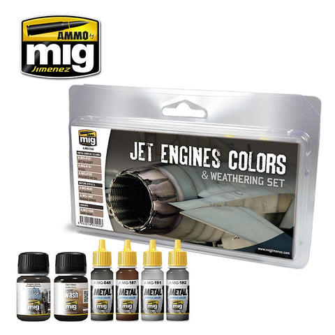 Jet Engine Colors & Weathering Set - Pegasus Hobby Supplies
