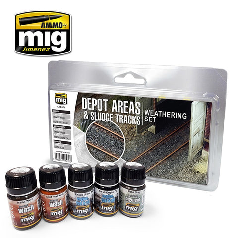 Trains : Depot Areas - Sludge Tracks Weathering Set