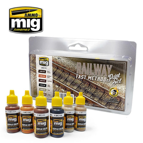 Trains : Railway Fast Method Paint Set