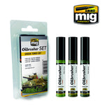 Oilbrusher Set - Green Tones Set - Pegasus Hobby Supplies