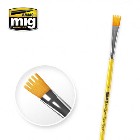 Synthetic Paint Brush - Saw (8) - Pegasus Hobby Supplies
