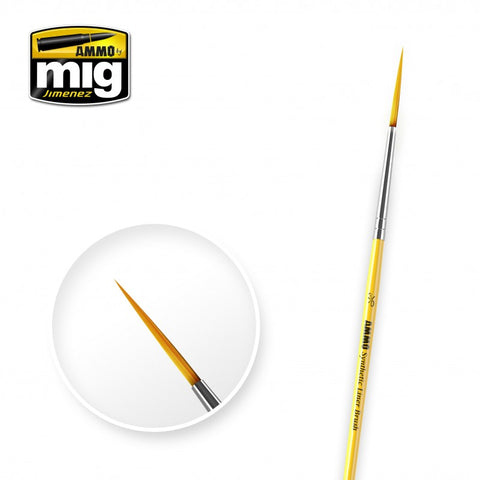 Synthetic Paint Brush - Line (3/0) - Pegasus Hobby Supplies