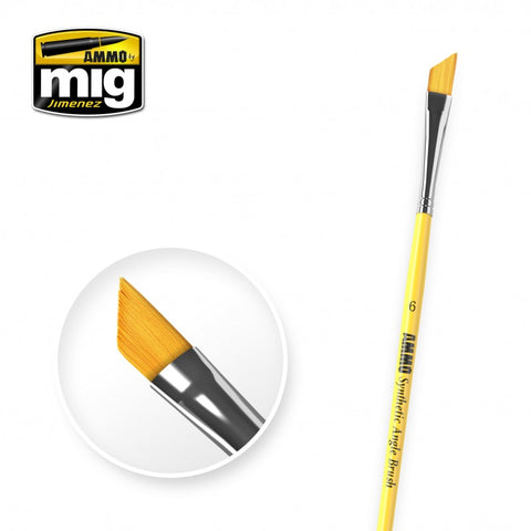 Synthetic Paint Brush - Angle (6) - Pegasus Hobby Supplies