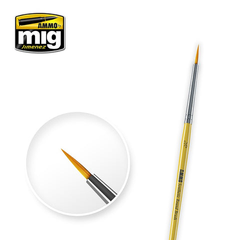 Synthetic Paint Brush - Round (3/0) - Pegasus Hobby Supplies