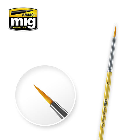 Synthetic Paint Brush - Round (2/0) - Pegasus Hobby Supplies